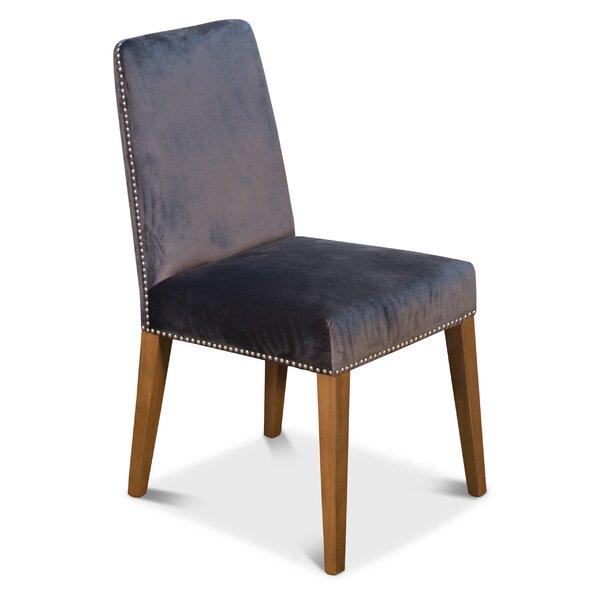 Scotti Velvet Upholstered Side Chair in Gray (Set of 2) by Corrigan Studio Corrigan Studio