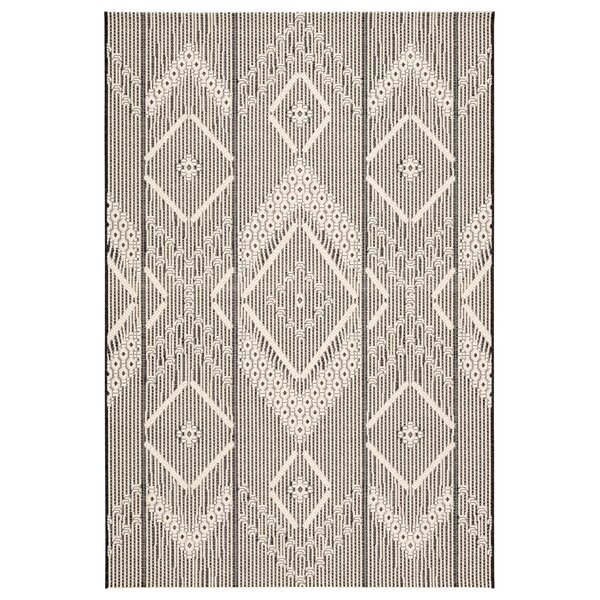 Valmar Tribal Gray/Beige Indoor/Outdoor Area Rug by Bungalow Rose