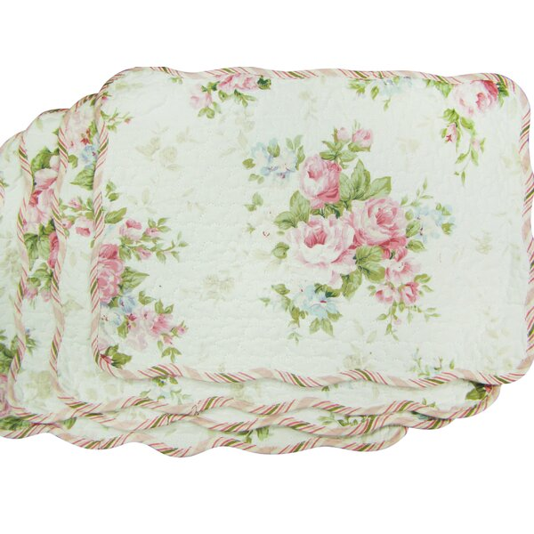 D'alouette Spring Rose Placemat (Set of 4) by Lark Manor