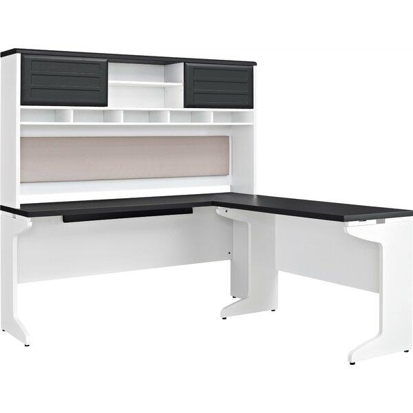 Elizabeth L-Shape Corner Desk with Hutch by Latitude Run
