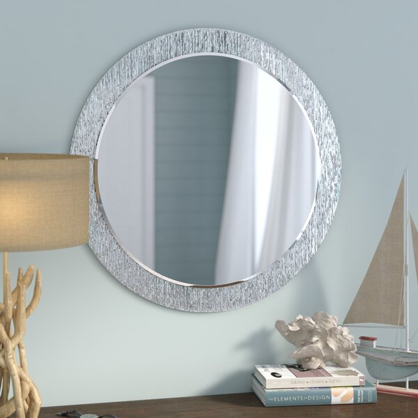 Point Reyes Molten Round Wall Mirror by Beachcrest Home