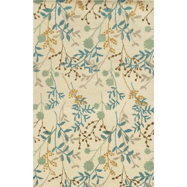 Al Hoceima Hand-Tufted Ivory Area Rug by Meridian Rugmakers