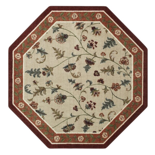 Farrah Rich Red/Beige Area Rug by Brumlow Mills