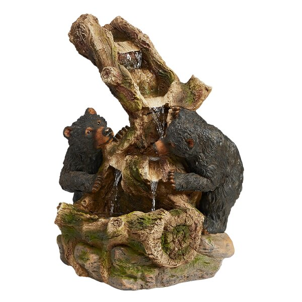 Resin Black Bears Cascading Sculptural Fountain by Wildon Home ®
