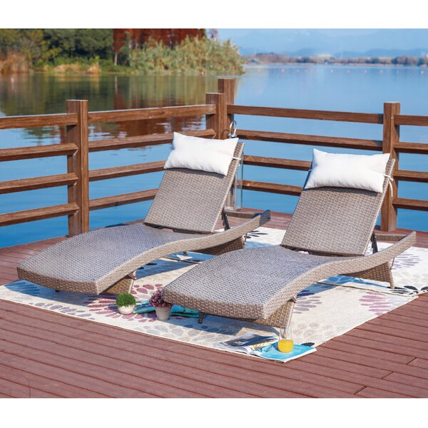 Novak Sun Lounger Set by Alcott Hill