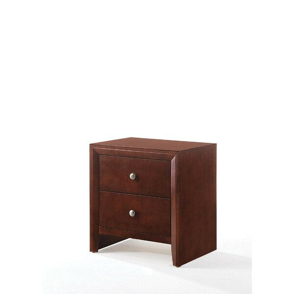 Leif Wooden 2 Drawer Nightstand by Alcott Hill