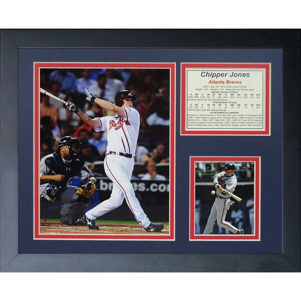 Chipper Jones - Young Framed Memorabilia by Legends Never Die