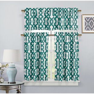 Charmant Aqua Kitchen Curtains | Wayfair