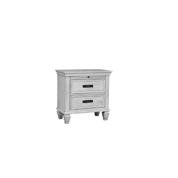 Stansel 2 - Drawer Nightstand In White By Rosalind Wheeler