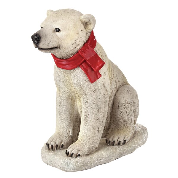 Sitting Baby Bear Lawn Figurine by The Holiday Aisle