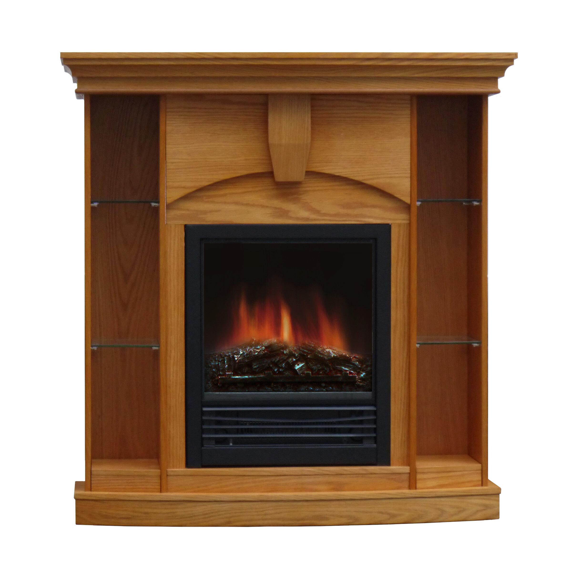 Charlton Home Belford Corner Curio Electric Fireplace Reviews