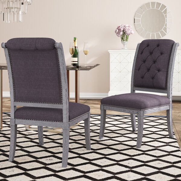 Djanira Upholstered Dining Chair (Set of 2) by Willa Arlo Interiors Willa Arlo Interiors