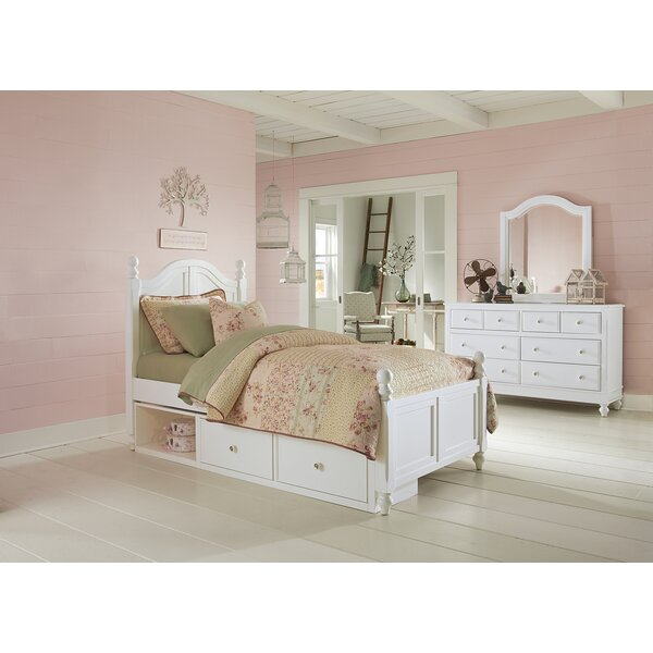 Nickelsville Twin Panel Bed with Storage by Three Posts