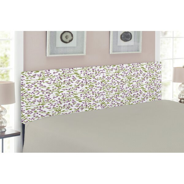 Flower Upholstered Panel Headboard by East Urban Home
