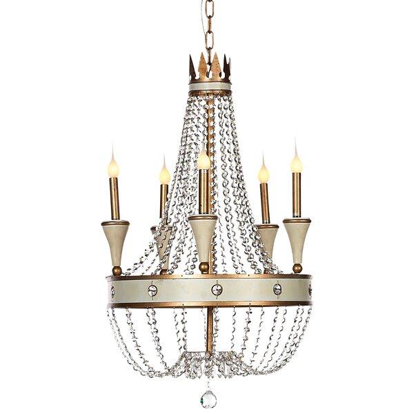 Josephine 5 - Light Candle Style Empire Chandelier