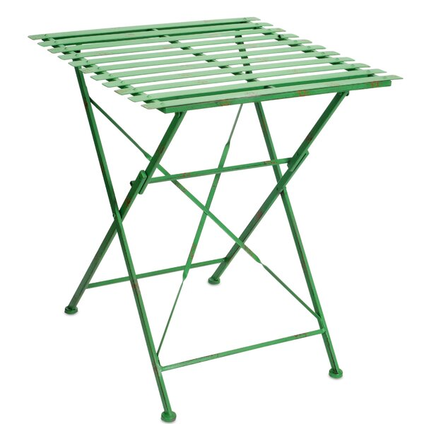 Trujillo Slotted Folding Bistro Table by Ophelia & Co.