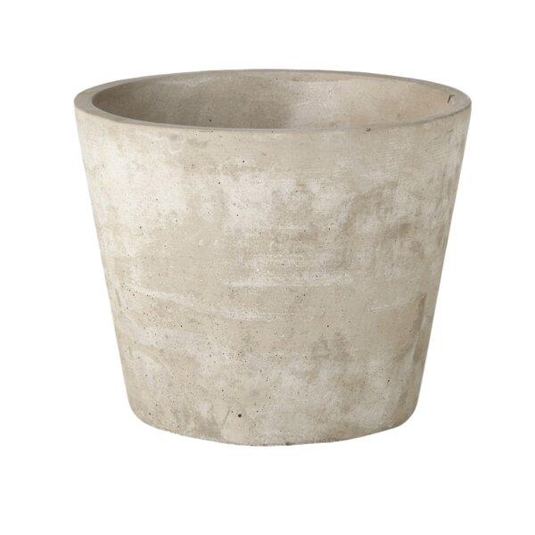 Emilie Round Cement Pot Planter by August Grove