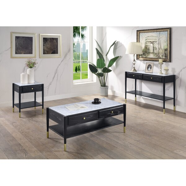 Wiener 3 Piece Coffee Table Set by Everly Quinn Everly Quinn