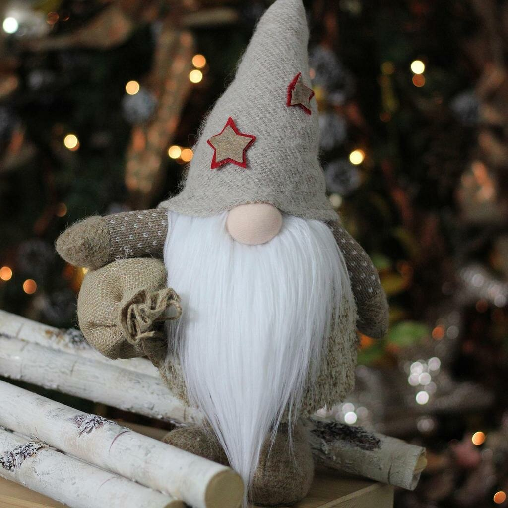 Christmas Gnome Decor.15 Christmas Gnome With Burlap Sack Tabletop Decoration