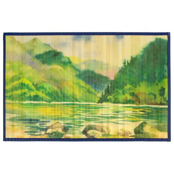 Shuttleworth Laser Printed Split Bamboo Lakeside Kitchen Mat