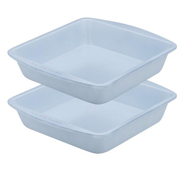Square Cake Pan Non-Stick Bakeware (Set of 2) by Range Kleen