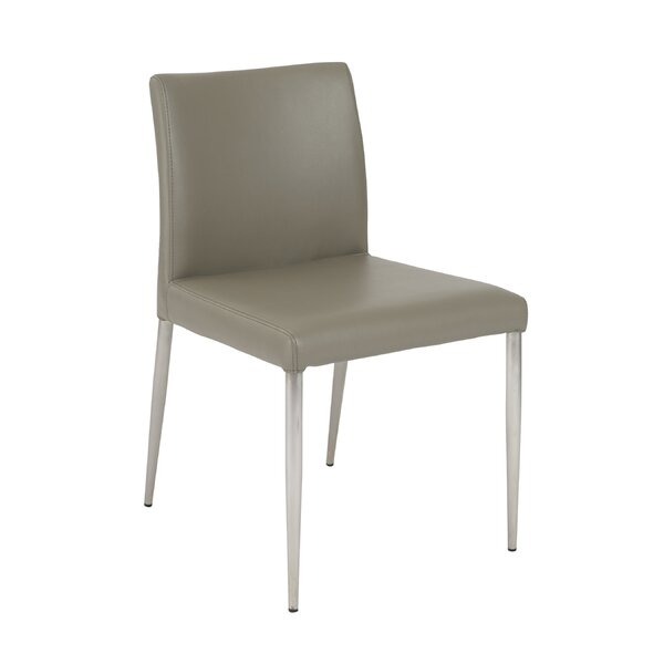Alyson Genuine Leather Upholstered Dining Chair (Set of 2) by Latitude Run