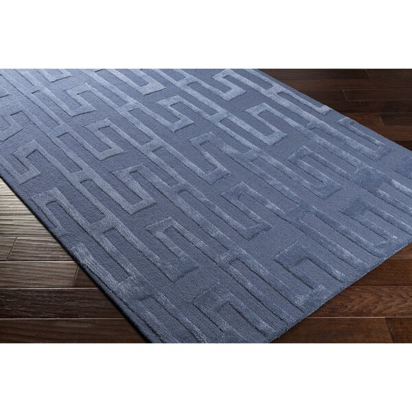 Blandon Hand-Tufted Blue Area Rug by Wrought Studio