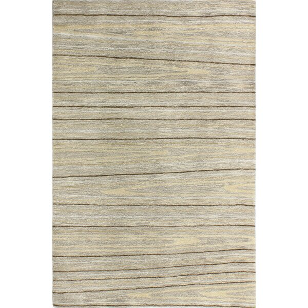 Kelson Hand Tufted Wool Taupe Area Rug by Latitude Run