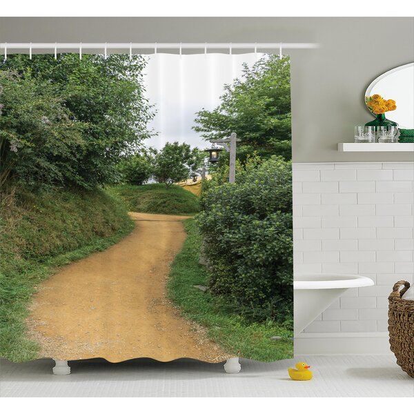 Hobbits Elf Path In Woods of Hobbit Land Shower Curtain by Ambesonne