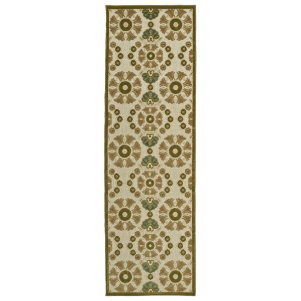 Mumtaz Machine Woven Olive Indoor/Outdoor Area Rug by World Menagerie