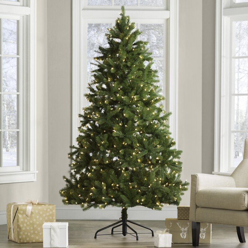 Downswept Douglas 6 5 Green Fir Artificial Christmas Tree With 650 Clear Lights And Stand