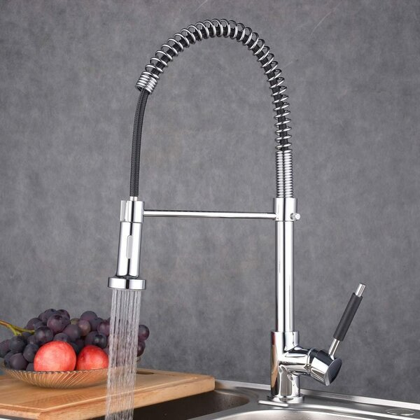 Sink Commercial Pull Down Single Handle Kitchen Faucet