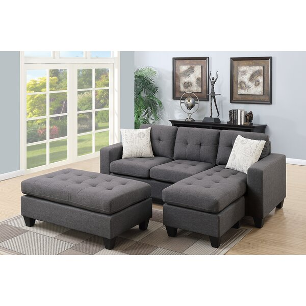 Ellendale Reversible Sectional with Ottoman by Ebern Designs