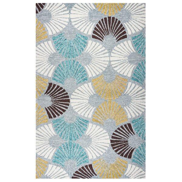 Evangeline Hand-Tufted Geometric Indoor/Outdoor Area Rug by Ebern Designs