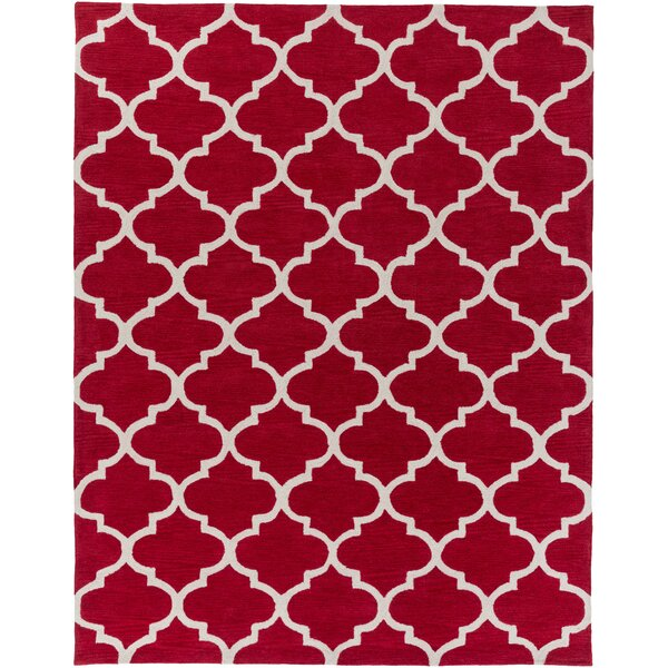 Cleaves Red/Ivory Area Rug by Red Barrel Studio