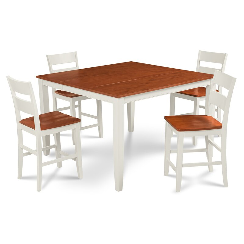 Etonnant Charlestown 5 Piece Counter Height Solid Wood Dining Set