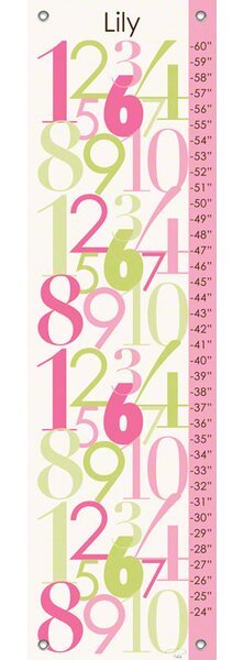 Modern Numbers Personalized Canvas Growth Chart by Oopsy Daisy