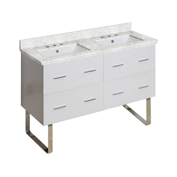 Phoebe Drilling Floor Mount 48 Double Rectangle Bathroom Vanity Set by Orren Ellis