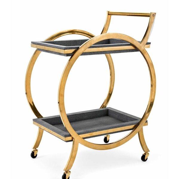 Lizotte Metal Serving Bar Cart by Mercer41