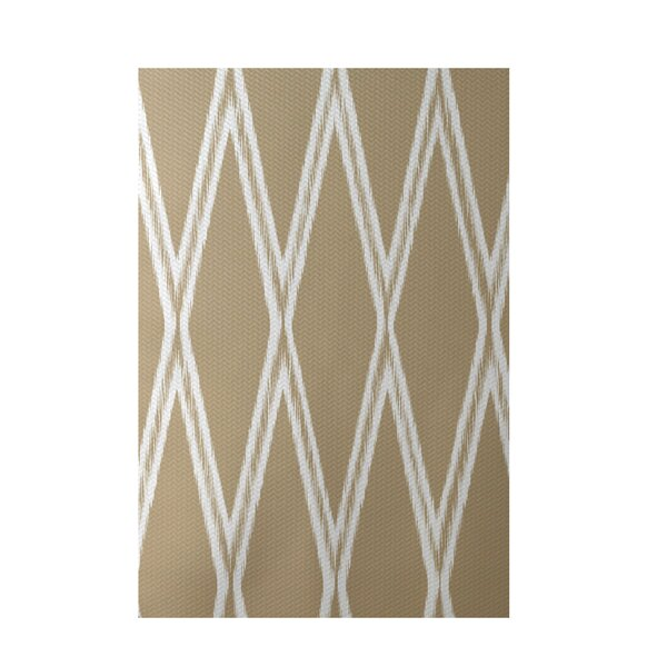 Gate Keeper Geometric Print Khaki Indoor/Outdoor Area Rug by e by design