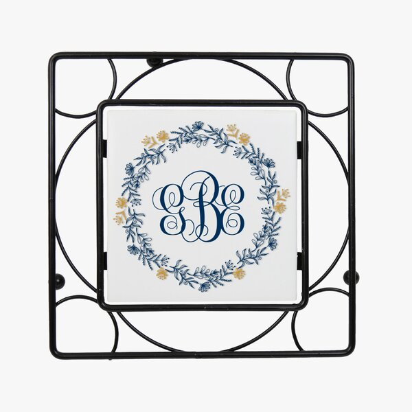 Monogram Wreath Iron Trivet by Monogramonline Inc.