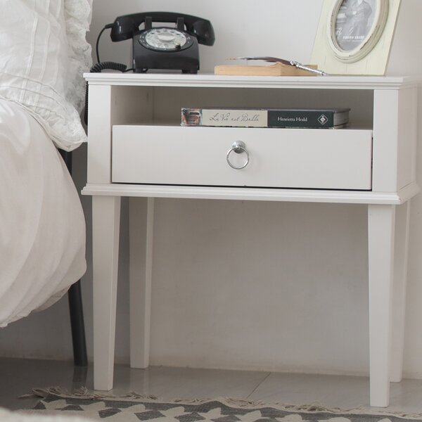Garett 1 Drawer Nightstand by House of Hampton