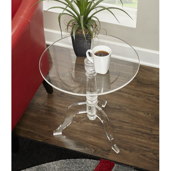 Kreger Acrylic End Table by Alcott Hill