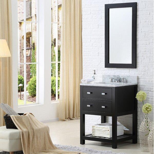 Berghoff 24 Single Bathroom Vanity Set with Mirror by Andover Mills
