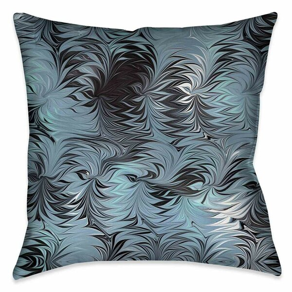 Hayhurst Hypnotic Blue Marble Throw Pillow