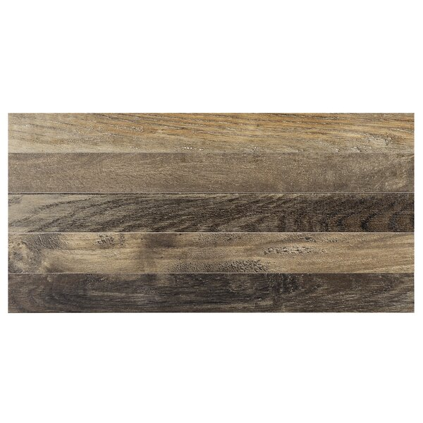 Parq 3.5 x 36 Porcelain Wood Look/Field Tile in Forest by Madrid Ceramics