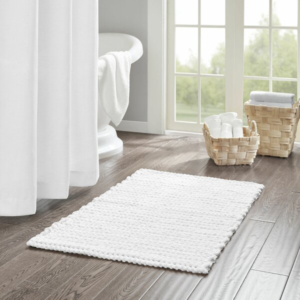 Abdullah Yarn Dyed Cotton Chenille Chain Stitch Bath Rug by George Oliver