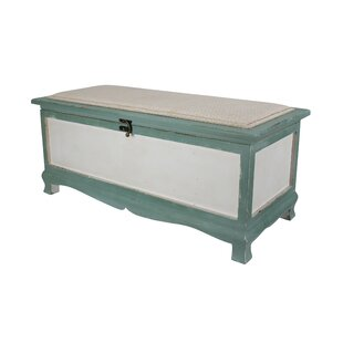 Compare & Buy Atka Wood Storage Bench By Beachcrest Home