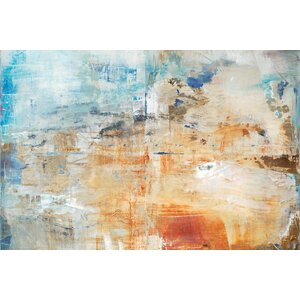 Cloud Burst Painting Print on Wrapped Canvas by East Urban Home