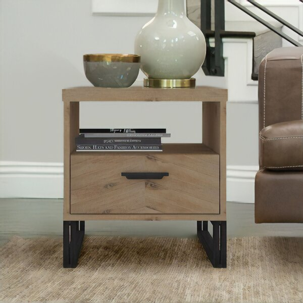 Crossville Sled End Table With Storage By Foundry Select